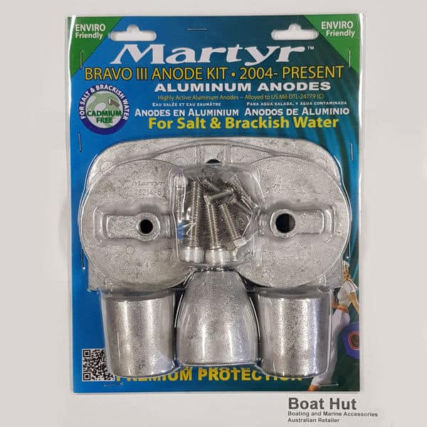 New Martyr Bravo 3 Aluminum Anode Kit CMBRAVO3KITA 2004- pres Mercury Mercruiser