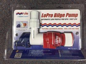RULE LoPro 900GPH 3407LPH Bilge Pump Low Profile Rotates 12V Automatic LP900S