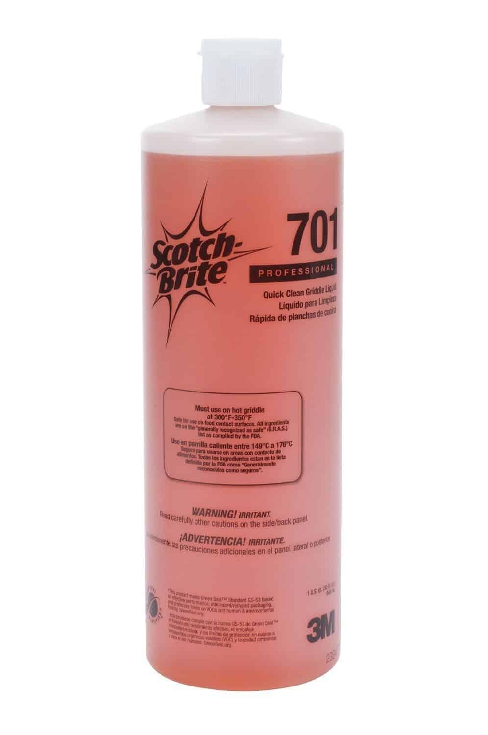 New 3M Scotch-Brite Quick Clean Griddle Liquid 701 Grease Removal 70071127057