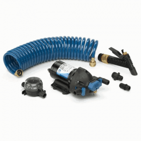 New Jabsco HotShot Washdown Pump Kit 4.0 GPM 12V 32900-0092 25 inch hose 3yr war
