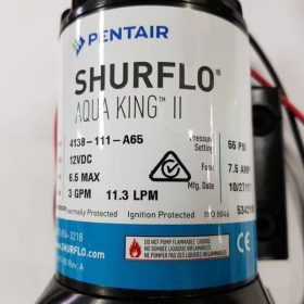 New Shurflo Aqua King II 12 V Freshwater Pump 3 GPM 55psi  4138-111-A65 OEM 1