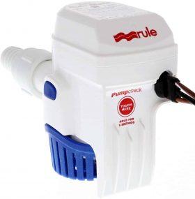 Rule Mate 1100 12 volt Bilge Pump Back