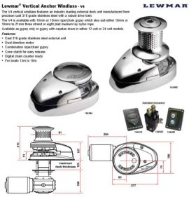 Lewmar® Vertical Anchor Windlass - V4