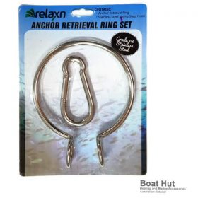 Anchor Retrieval Ring Set 316 Stainless Steel with Spring Snap Hook