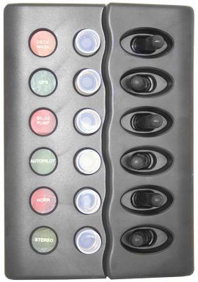 5821 280x399 - Switch Panel Waterproof Circuit Breaker 6 Switch 12 Volt