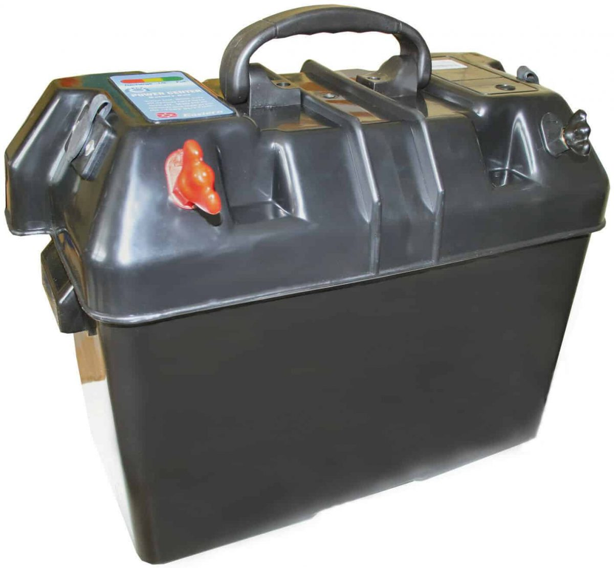 Large Vented Marine Power Centre Battery Box with 2 Cigarette Sockets