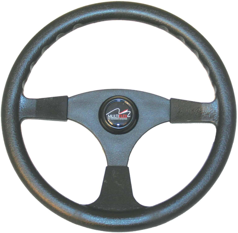 Multiflex Boat Steering Wheel 3 Spoke Alpha 340mm Sports Wheel Marine Black