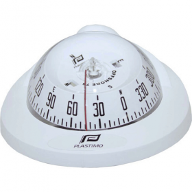 Plastimo Offshore 75 Compass - White - Flush Mount With Conical Black Card