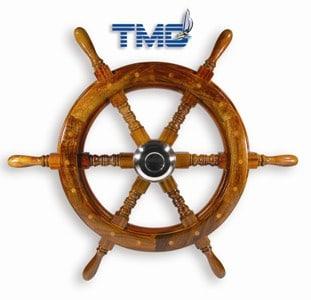 Wheel Trad Timber Six Spoke 615mm