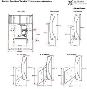 "jackplate specs 280x286 - Seastar Jack Plate Hydraulic 12"" Set Back Xtreme Smartstick"