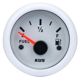 KUS Fuel Gauge 240-33 OHMS 12 / 24 Volt White